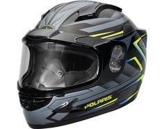 Polaris Gloss Blue Cyclone Helmet w/ Electric Shield DOT Approved Size Large Snowmobile Helmets, Polaris Snowmobile, Off Road Helmets, Motor Parts, Atv, Bike, Electric, Ebay, Things To Sell