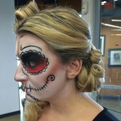 #hair and #airbrush #makeup done by me @Kristin Foreman #sugarskull
