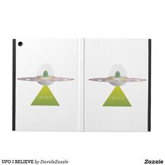 UFO I BELIEVE iPad Folio  Available on more products! Type in the name of this design in the search bar on my Zazzle products page to see them all!  #ufo #alien #space #outer #universe #ship #flying #saucer #little #green #men #conspiracy #theory #cartoon #illustration #funny #drawing #digital #scifi #science #fiction #buy #zazzle #sale #for #sale #laptop #phone #case #sleeve #protect #accessory #gear #lifestyle #life #style