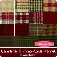 Christmas III Primo Plaids Flannel Fat Quarter Bundle<br />Marcus Brothers Fabrics