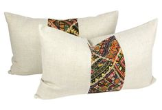 Lumber Kutch Linen Pillow, Pair