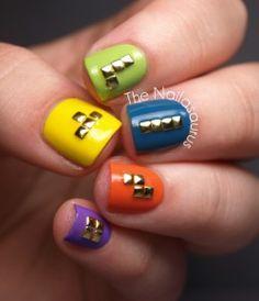 Tetris Nails