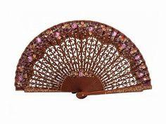 Handmade Bubinga Wood Fan. Ref. 392