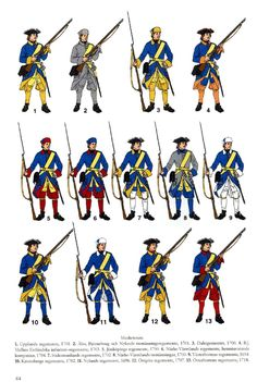The Great Northern War; Swedish Infantry Regiments 1701-18