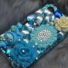 iphone 4 Case iphone 4s case Blue swarovski by DemiGoddessCo, $55.00