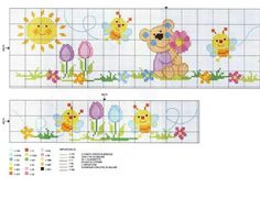 This Pin was discovered by Van Baby Cross Stitch Patterns, Cross Stitch For Kids, Cute Cross Stitch, Cross Stitch Borders, Cross Stitch Animals, Cross Stitch Flowers, Modern Cross Stitch, Cross Stitch Charts, Cross Stitching