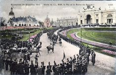 Vintage World's Fair postcard - Brussels (1910)