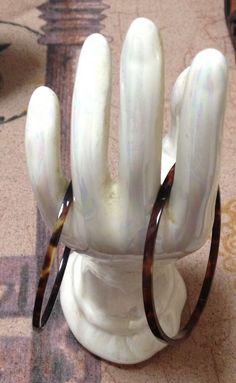 Vintage Pair Child's Faux Tortoise Shell Plastic Bangle Bracelets - New Listing    eBay