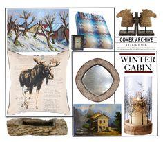 """Winter Cabin'"" by dianefantasy ❤ liked on Polyvore featuring interior, interiors, interior design, home, home decor, interior decorating, NOVICA, Dot & Bo, Bliss Studio and Missoni Home"