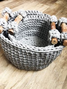Woodland Basket Crochet Pattern -this is a crochet PDF pattern only NOT a finished basket. Take control of the clutter! Whether its toys, yarn, or your favorite books, they will be organized in these sturdy nesting baskets. Bring a little bit of a nature inside with the wood handles. You can use sticks or wood dowels from the hardware store. The Crochet Pattern has 1 extra round that will help your basket sides stay upright and sturdy. Links to video tutorials are included for special…