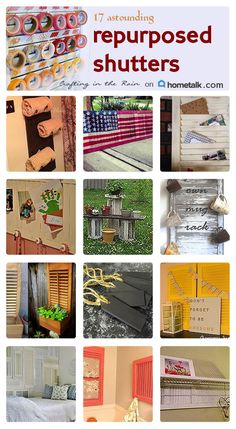 These ideas are so cool! One person used an old shutter to make a mug rack! How great would that look behind a coffee station?