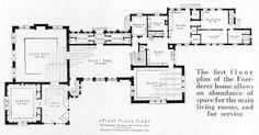 La Rhonda Mansion First Floor Plan