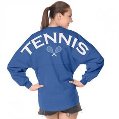 Tennis - Classic Unisex Long Sleeve, Crew Neck Spirit Jersey®