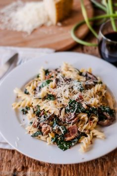 Creamy Pasta with Kale, Mushrooms, and Pancetta | These 26 Recipes Will Make You Fall In Love With Kale