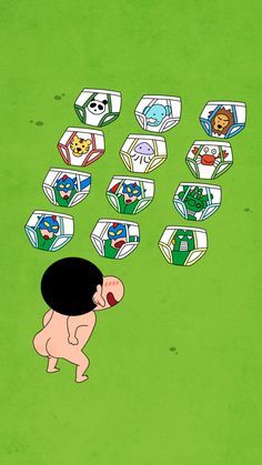 What should I choose? Sinchan Wallpaper, Cartoon Wallpaper, Crayon Shin Chan, Funny Illustration, Cute Backgrounds, Animated Cartoons, Doodle Drawings, Diy Phone Case, Character Design