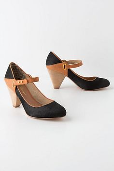 these kind of remind me of my swing dancing days...Pitched Whiskey Mary-Janes #anthropologie