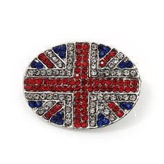 Union Jack Oval Silver Plated Crystal Brooch - 3.2cm Diameter Avalaya http://www.amazon.com/dp/B007RN0QA2/ref=cm_sw_r_pi_dp_8606ub1NBFAV5