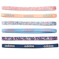 Women's Adidas Fighter 6-pk. Floral & Solid Headband Set ($12) ❤ liked on Polyvore featuring accessories, hair accessories, ovrfl oth, elastic headbands, stretch headbands, head wrap hair accessories, head wrap headband and elasticated headband