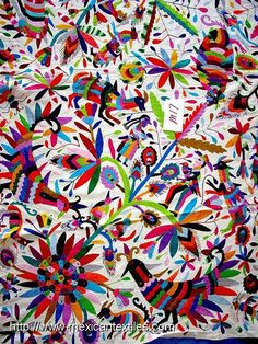 Otomi Embroidered Fabric | by Mexico Culture