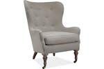 STBL06 Lee Industries - Chair 1307-01 30W 34D 41h Fruitwood finish, green Jane Churchill welt on white Pindler linen