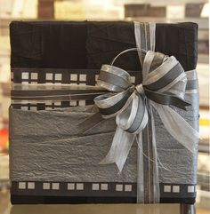 Lama Li Handmade Paper, Tea Chest, Silver - KP wrap