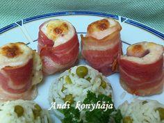 csirkemelltekercs Bacon, Food, Essen, Yemek, Pork Belly, Meals