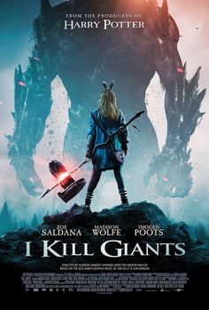 I Kill Giants on DVD May 2018 starring Madison Wolfe, Zoe Saldana, Imogen Poots, Jennifer Ehle. Barbara Thorson (Madison Wolfe) is a teenage girl who escapes the realities of school and a troubled family life by retreating into her magi Imdb Movies, 2018 Movies, New Movies, Good Movies, Movies Online, Movies Free, Popular Movies, Film 2017, Brücke Nach Terabithia