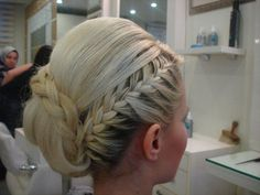 wedding hair. braid. bun. formal updo.