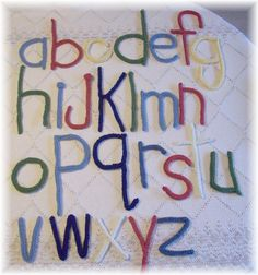 Crochet alphabet pattern #crochet