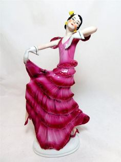 Art Deco German Porcelain Dancer