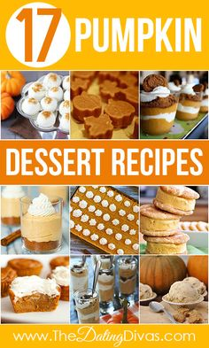LOTS of delicious pumpkin dessert recipes. Everything from truffles to fudge to parfaits.  And THIS is why I love fall!