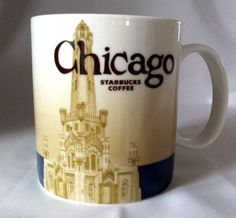 #theSmartShoppe STARBUCKS CHICAGO CITY MUG Collector 16oz WATER TOWER Skyline 2008 #StarbucksCoffee