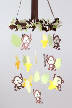 Amazing Affen Sie Kindergarten Mobile Dschungel von LovebugLullabies
