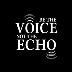 Be the Voice, Not the Echo.