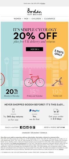Boden #Email #Marketing