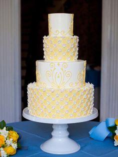 Elegant Yellow Wedding Cake Pretty Wedding Cakes, Amazing Wedding Cakes, Wedding Cake Designs, Pretty Cakes, Beautiful Cakes, Amazing Cakes, Wedding Ideas, Wedding Stuff, Wedding Pictures