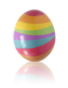 Pretty Dyed Easter Egg.  At Greek Easter, believers dye eggs red to represent the blood of Jesus Christ and his suffering on the cross. The hard shell of the egg represents the sealed tomb. Cracking it represents his resurrection.