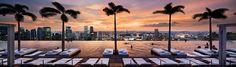 Infinity Pool on 55-Storey Marina Bay Sand Hotel in Singapore