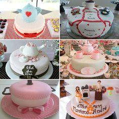 O QUE SERVIR NO CHÁ DE PANELA! Um bolo bem gostoso e bonito é o primeiro passo! (rs) Adoro ver bolos decorados; alguns são a coisa mais fofa! Selecionei para vocês algumas inspirações de bolos decorados com bules de chá ou em formato de panela mesmo! Não são a coisa mais linda?