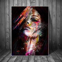Abstract Graffiti Art Wall Paintings Print On Canvas Pop Art Canvas Prints Modern Girls Oil Paintings For Living Room Wall Decor – Nordic Wall Decor Abstract Portrait, Portrait Art, Abstract Paintings, Woman Portrait, Oil Paintings, Abstract Art, Pop Art Portraits, Cheap Paintings, Contemporary Paintings