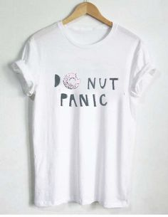 Donut panic T Shirt Size S,M,L,XL,2XL,3XL
