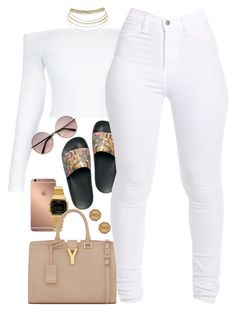 """""""Untitled #1636"""" by power-beauty ❤ liked on Polyvore featuring Mura, Casio, Gucci, Yves Saint Laurent and Moschino"""