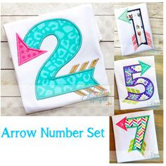 arrow number embroidery applique design $ REPIN THIS then click here: https://creativeappliques.com/