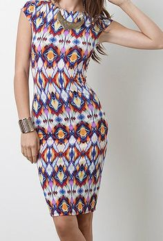 love this abstract body con dress <3