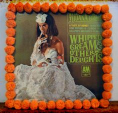 Orange Pom Pom GLITTER Original SEXY Herb Albert's Tijuana Brass Whipped Cream & Other Delights Record Album