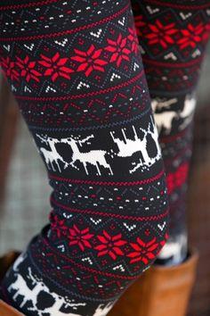 Stretchy Fawn Print Leggings