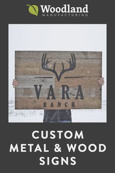 Custom wood and metal signs created by our talented customers with our shop capabilities. See how beautiful cut metal letters on wood signs look. Barn Signs, Rustic Signs, Wood Signs, Custom Metal Signs, Custom Wood, Wood Logo, Simple Signs, Logo Sign, Metal Letters