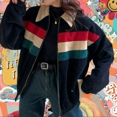 Veste style vintage des années 70 - Outfits about you searching for. Tomboy Fashion, 80s Fashion, Korean Fashion, Fashion Outfits, Gothic Fashion, 90s Fashion Grunge, Classy Fashion, Fashion Vintage, Party Fashion