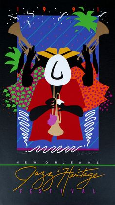 New Orleans Jazz & Heritage Fesitval Posters - 1991 My first Fest. Wow. The best musical event!!
