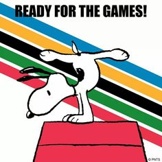 Ready for the games ~ Snoopy ~ Olympics 2016 Charlie Brown Quotes, Charlie Brown And Snoopy, Peanuts Cartoon, Peanuts Snoopy, Peanuts Characters, Cartoon Characters, Flying Ace, Joe Cool, Snoopy And Woodstock
